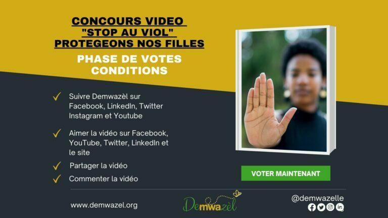 Youtube Sensibilisation contre le viol - Concours Stop au viol - Demwazel